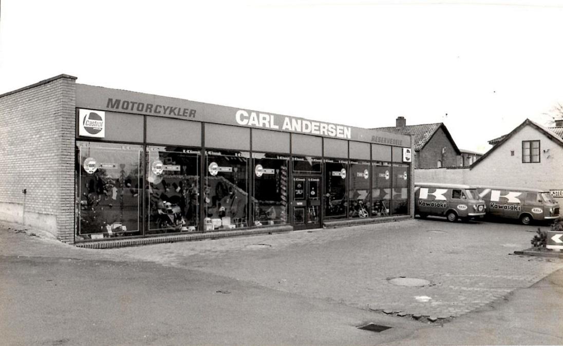 Forretningsfacaden på Randersvej omkring 1978.