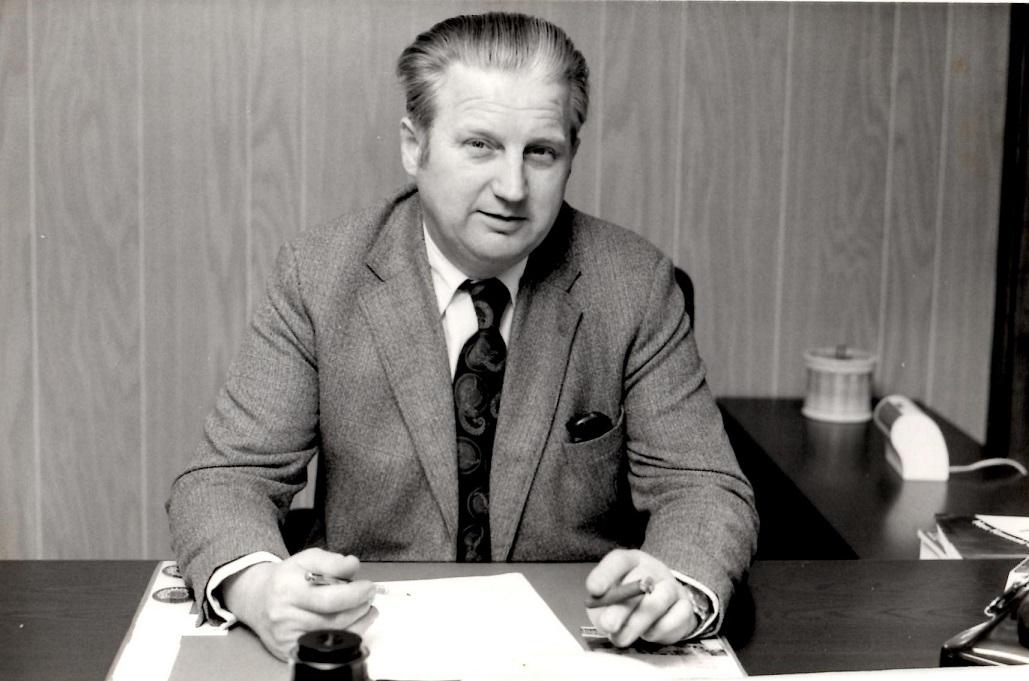 Direktøren selv med den velkendte cigar i hånden. Omkring 1978.
