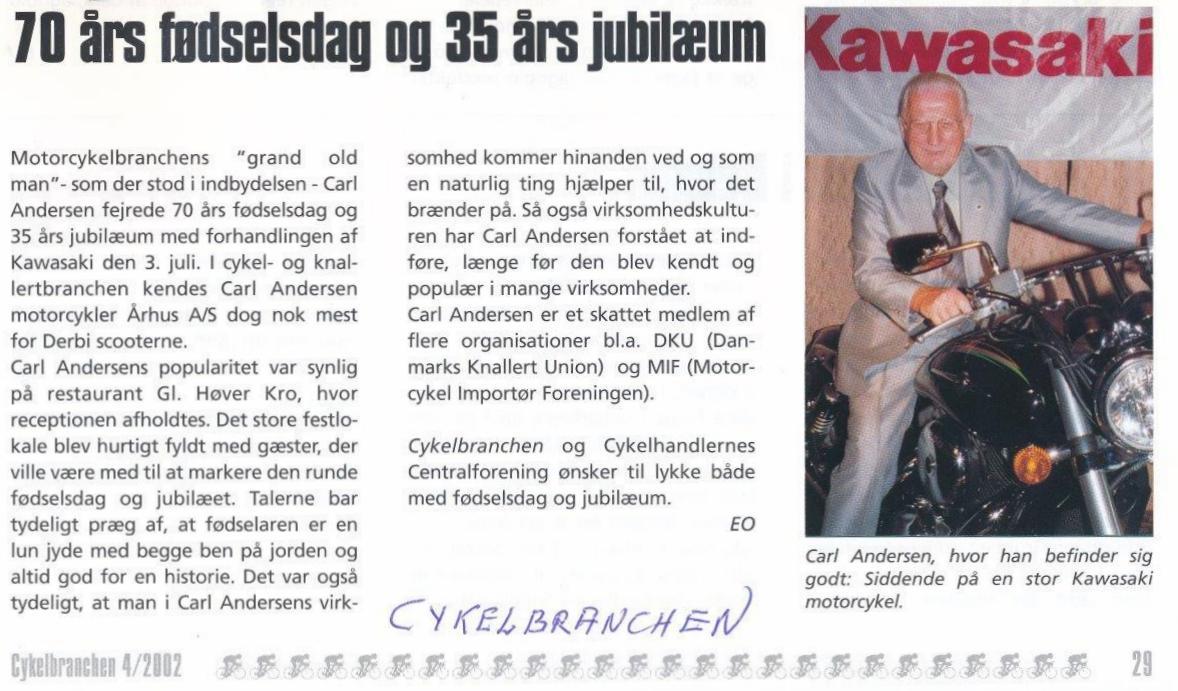 2002-07-03 CA 70år Cykelbranchen