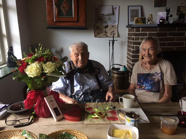 Carl og Tove på Carls 87 års dag 3. juli 2019