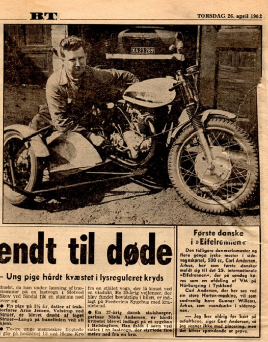 Avisomtale inden Carls første TT_løb på Nürburgring i 1962.