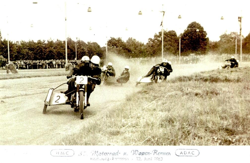 I front på Hamburg Farmsen 1960.
