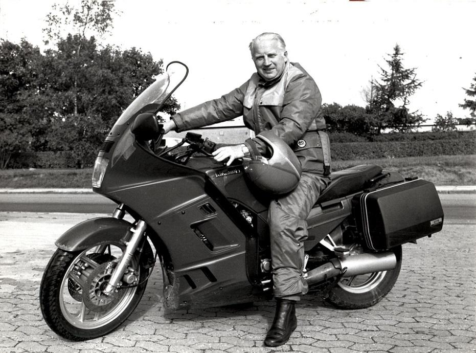 Af og til stod den på langtur på motorcykel. Bl.a. gik turen mange gange til datteren Susanne og svigersønnen Finn Thomsen i Spanien.