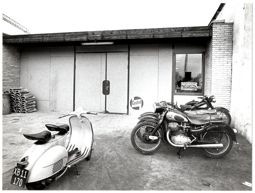 Det nybyggede værksted på Randersvej i 1964.