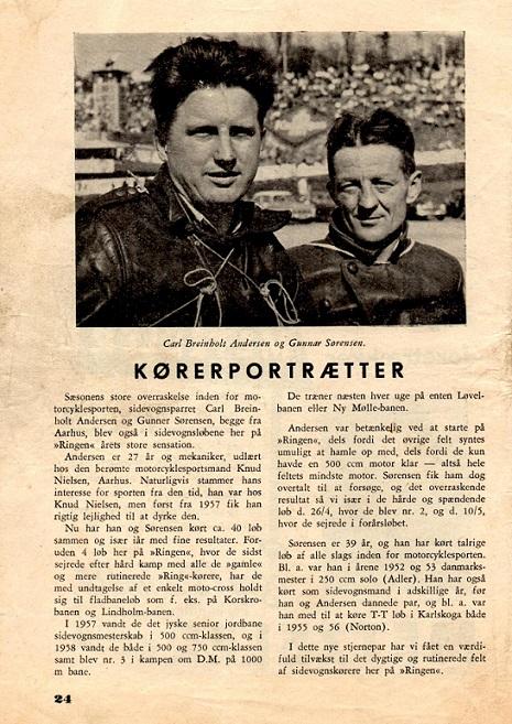 Carl og Gunnar var med på Roskilde Ring i 1959 og fik denne programomtale