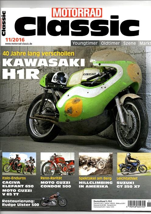 Kawasaki lavede denne racer, som en videreudvikling af H1 Mach III. Den afbildede er netop fundet efter 40 år i skjul og blev kørt af den svenske mesterkører Svend Olov Gunnarsson, som kørte den i VM-serien med en vis succes i starten af 70´erne.
