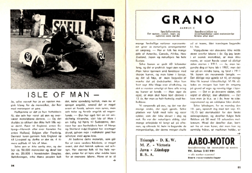 Isle of Man 1964. Toves artikel i klubbladet img 1.
