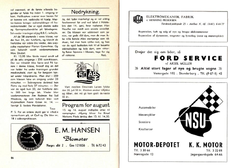 Isle of Man 1964. Toves artikel i klubbladet img 2.