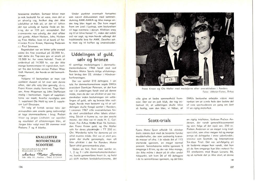 Klubbladet omtalte også præmiefesten, der blev afholdt af DMU det år.