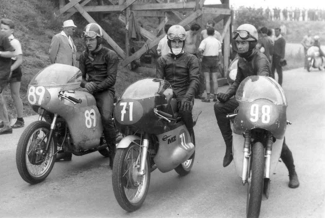 Sachsenring, DDR juli 1967. Franz med nr. 89 på Honda.