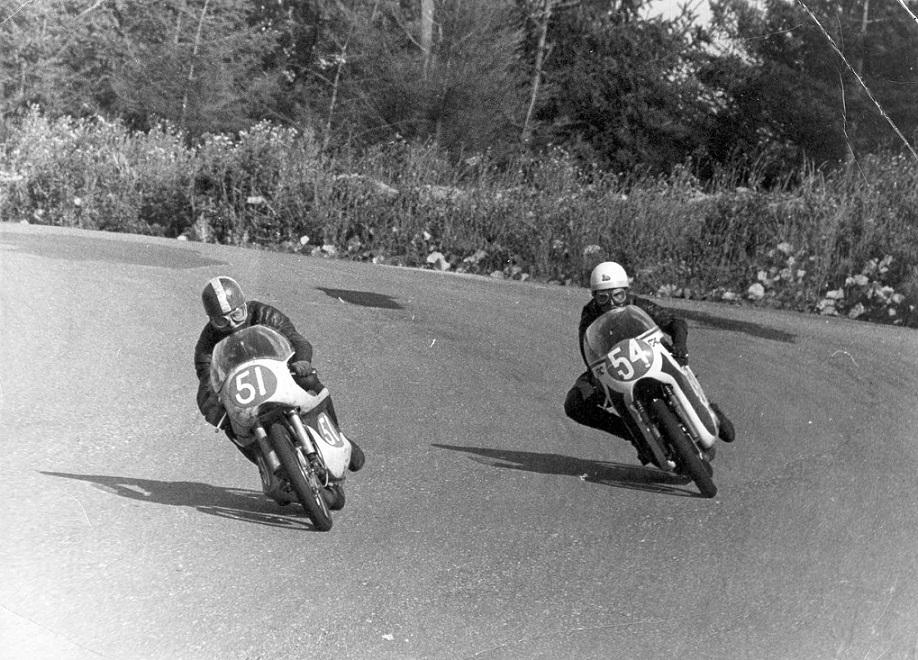 En duel fra løbet. Franz og Robert Olsen.