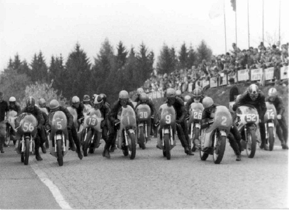 Horice, Tjekkoslovakiet 1970. Franz med nr. 56.