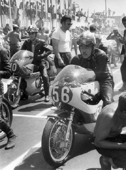 Jicin, Tjekkoslovakiet 1970. Franz klar til start på Yamaha.