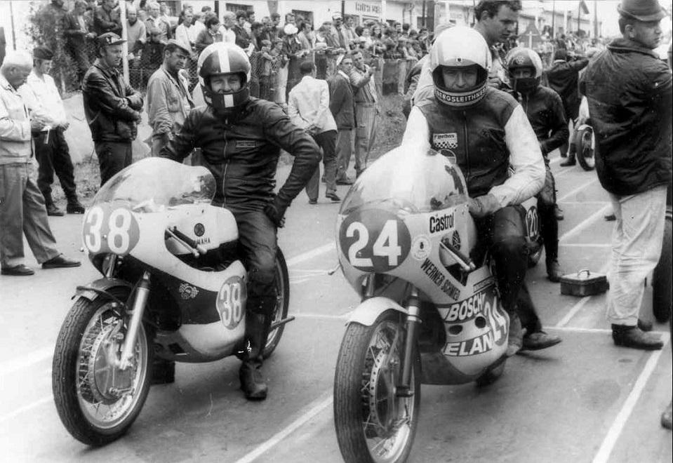 Jicin 1973. Franz kørte i to klasser. Her med nr. 38 ved starten.