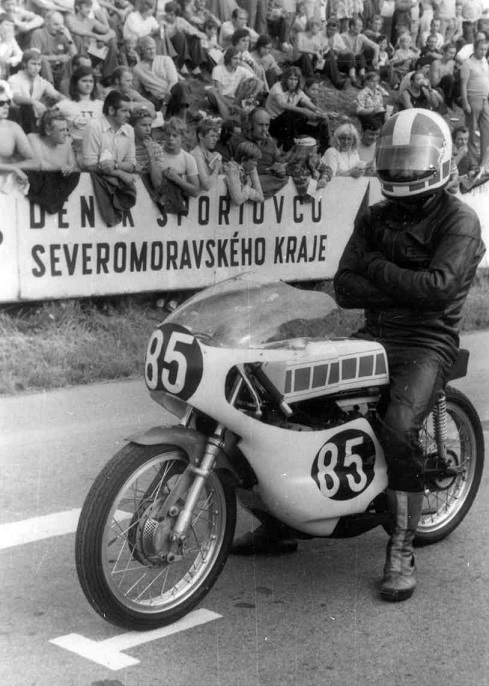 Franz klar til start, her i 125cc klassen.