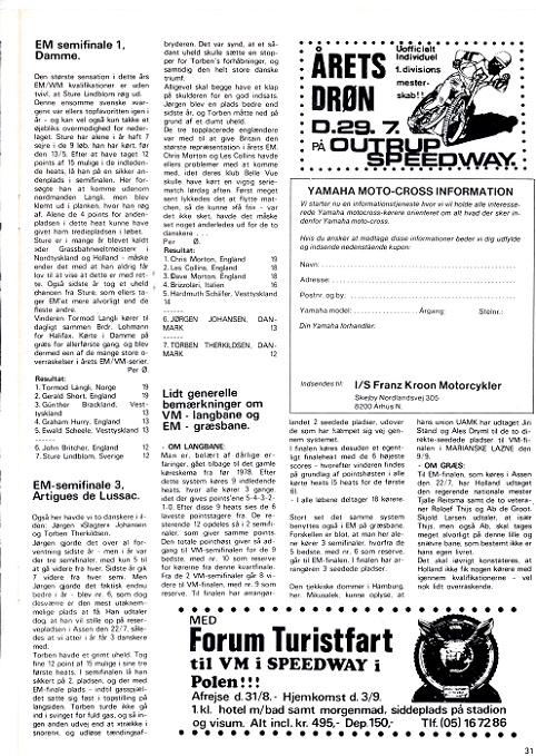 DMU blad juni-juli 1979. Importøren opretter en service for interesserede kørere.