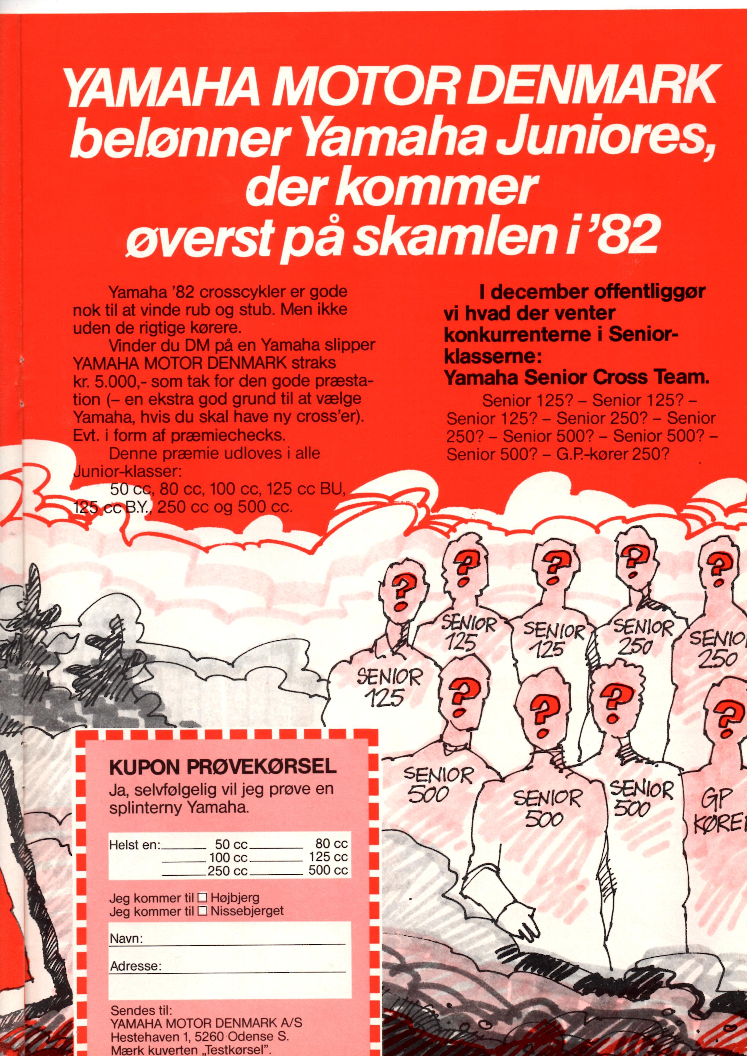 I Motorbladet november 1981 kan man se, at Yamaha selv har overtaget styringen i Danmark.