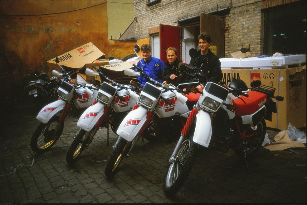 Firmaet leverede en flok ørkenmodeller Yamaha Tenere til en flok århusianske entusiaster. Årstal ikke kendt.