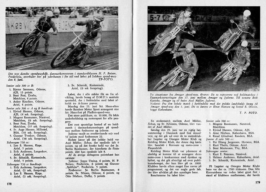 I DMU-bladet aug. 58 blev bragt en artikel om holdturneringen i Fladbro og på Amager.