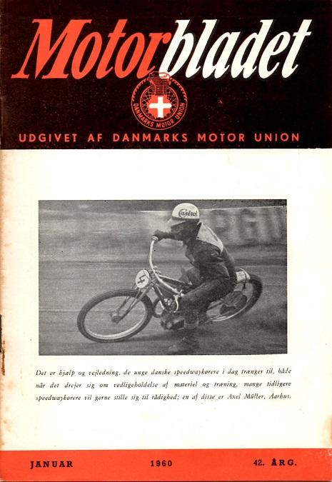 Aksel i fin stil på forsiden af Motorbladet, bemærk underteksten.
