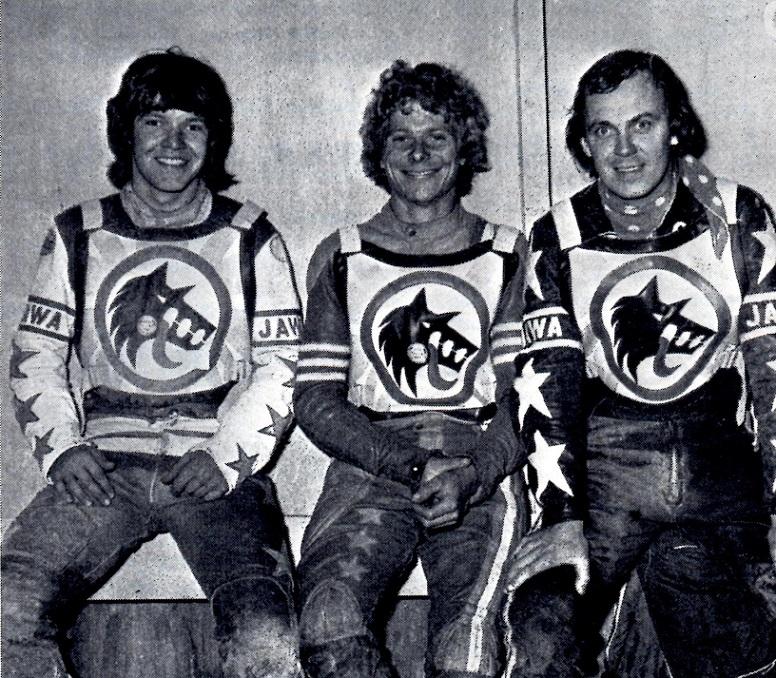 3 danskere i Wolwerhampton vest 1975. Finn, Leif Berlin Rasmussen og Ole Olsen.