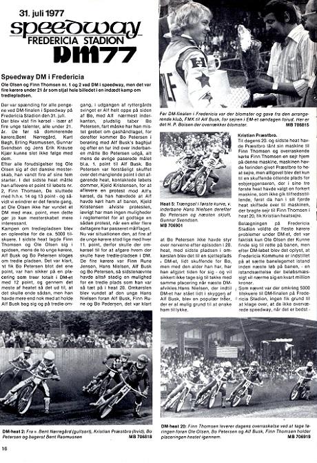 DM Speedway-finalen 1977 gav Finn en ny 2. plads. Motorbladet sept. 77 img1.