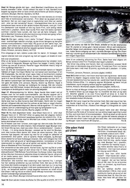 I finalen blev Finn nr. 5, hvilket berettes om i denne reportage. Motorbladet okt. 77 img3.