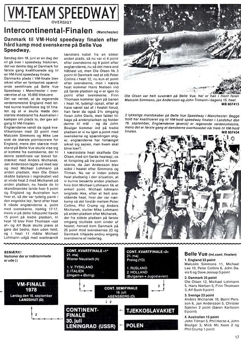 Motorbladets reportage fra Intercontinentalfinalen team Manchester.