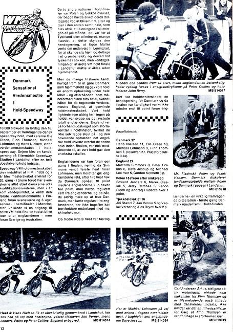 Motorbladet okt. 78. Reportagen fra VM-løbet.