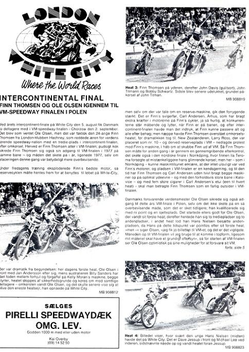 På White City blev det til en ny 3. plads i Intercontinentalfinalen, hvorefter adgangen til VM-finalen var sikret. MB sept. img1.