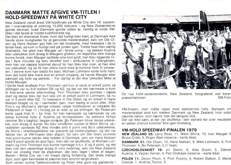 Motorbladets reportage fra VM-Team finalen 1979.