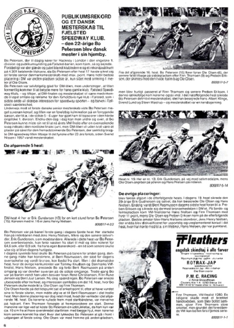 DM-Speedway finalen. MB sept. 1980.