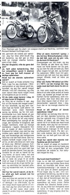 Motorbladet bragte i dec. 83 dette interview med Finn i anledning af hans karrierestop. Img2.