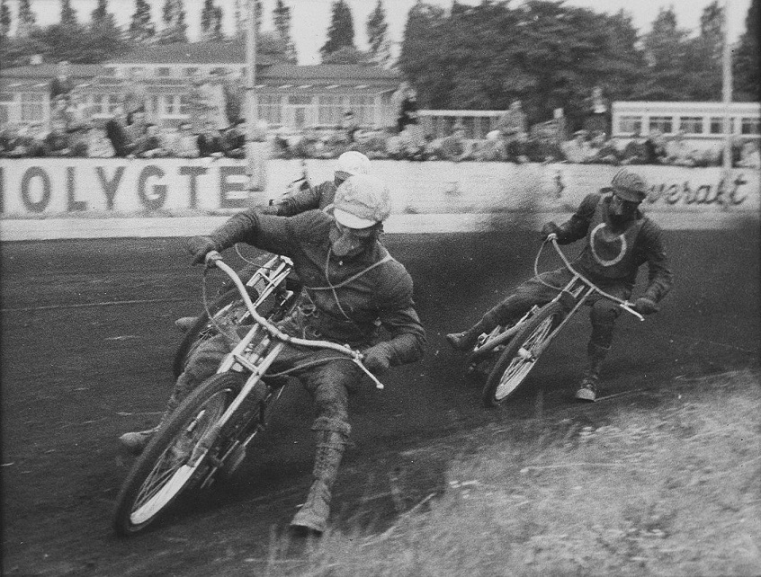 Holdmatch Amager Speedway img2. Aksel forrest, Poul Hansen th