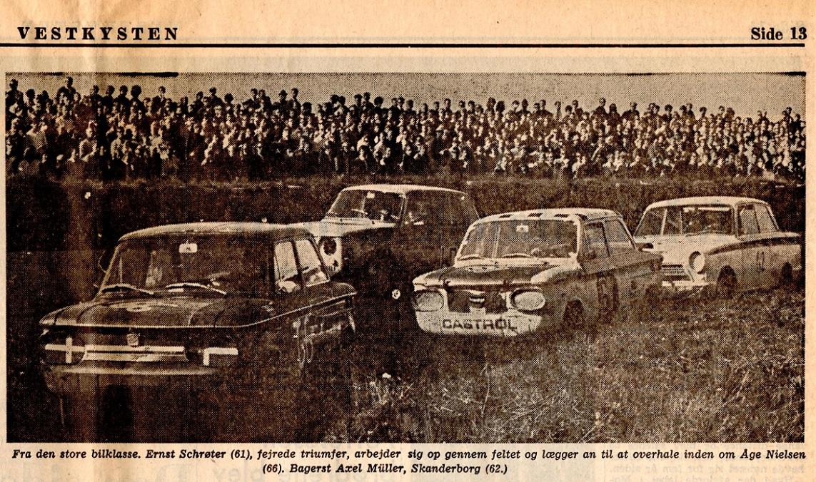 Billede fra avisartikel i Vestkysten 8. sept. 69.