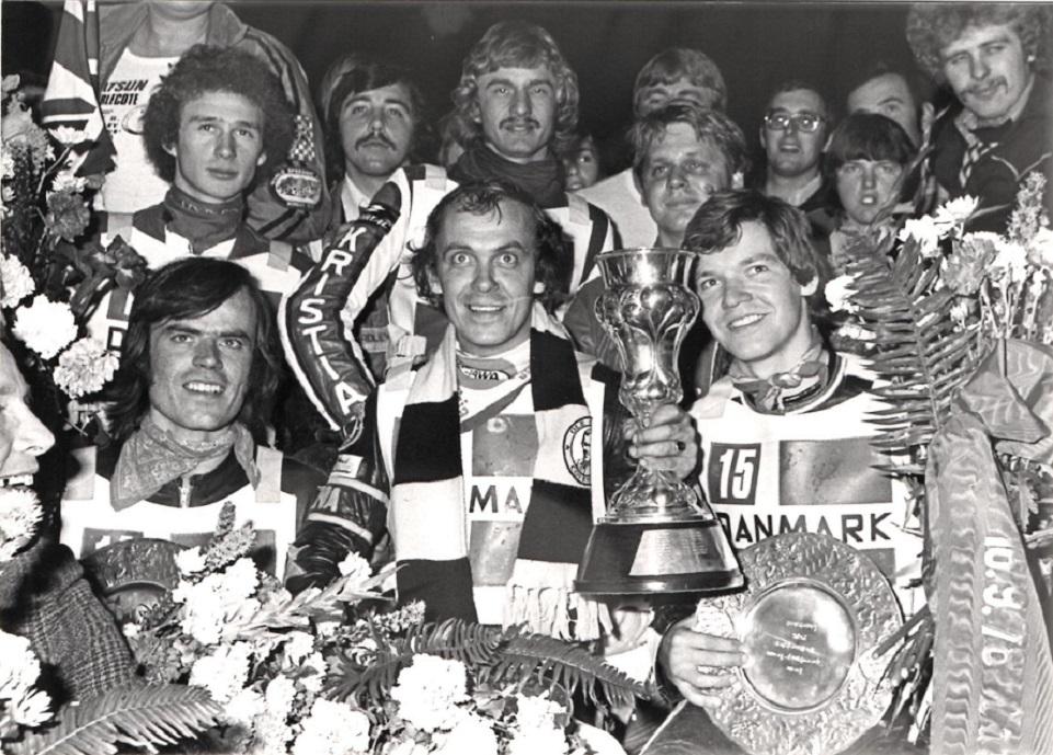 Landshut 1978. VM-titlen er i hus, og Danmark hyldes for sejren.