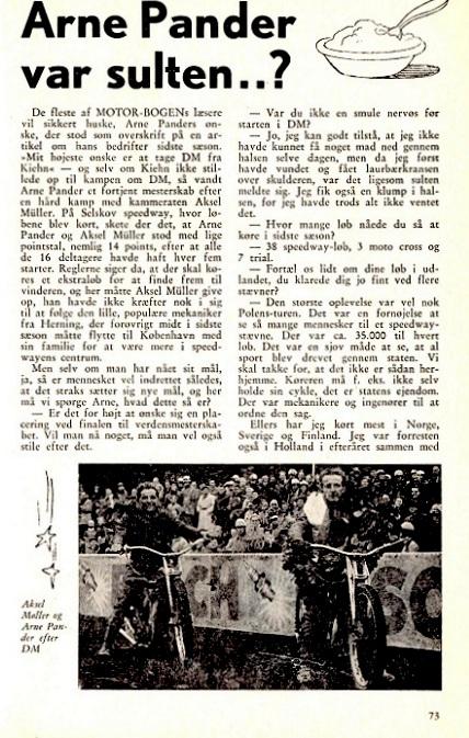 Motorbogen bragte også en omtale af løbet med billede.
