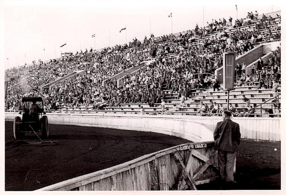 Et af de store stadions.