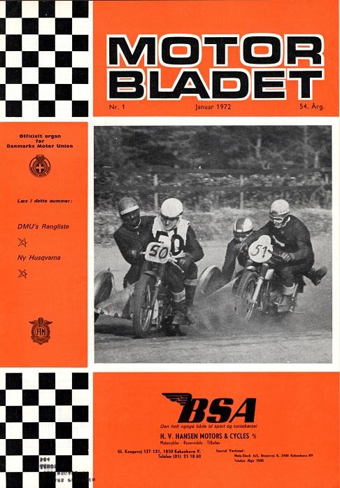 Frank og Henning ses i front, da de var på vej mod det første langbane DM i Skive 1971. De fik dermed revanche over Callesen, der ses med nr. 51.