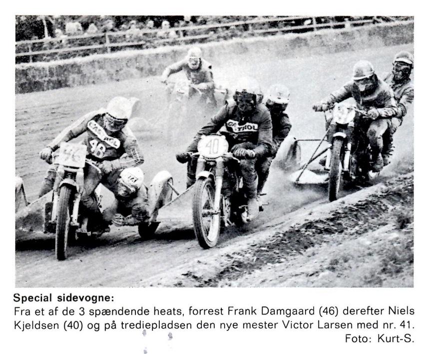 Efter en tæt fight måtte Frank og Henning nøjes med 2. pladsen efter Victor Larsen ved DM i Skive 1972.