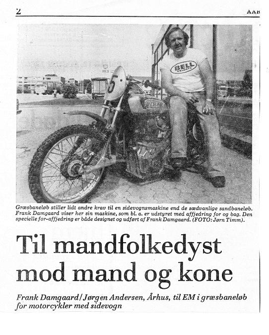 Aarhus Stiftstidende bragte omtale af Franks satsning på EM Græs i 1980. Img1.