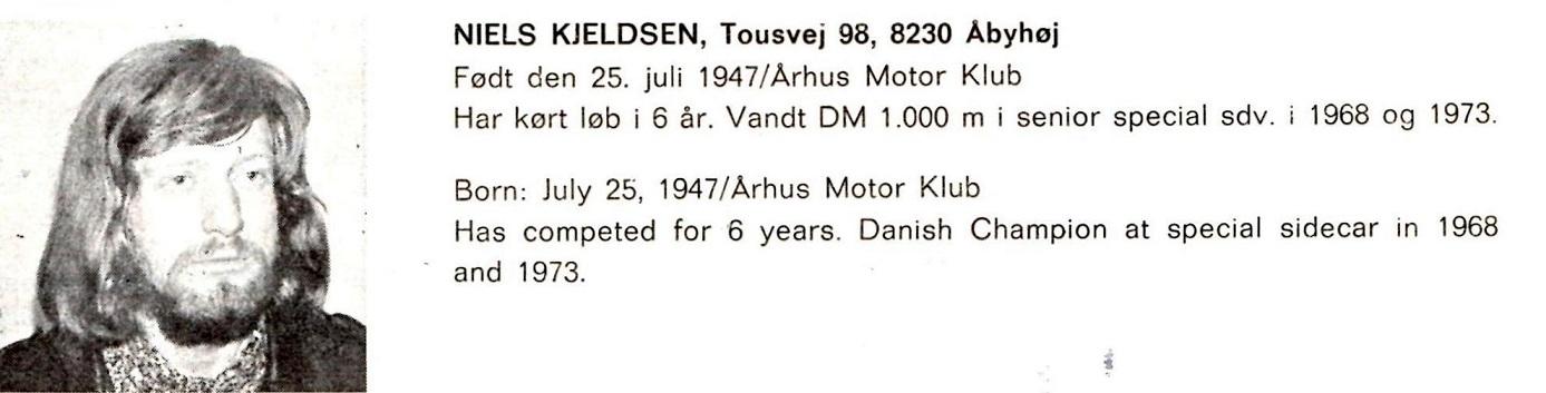 Motorbladet dec. 73 bragte denne profilomtale af Niller under temaet årets danske mestre. Teksten er fejl omkring Nillers mesterskab i 1968. Det var 1971 i stedet.