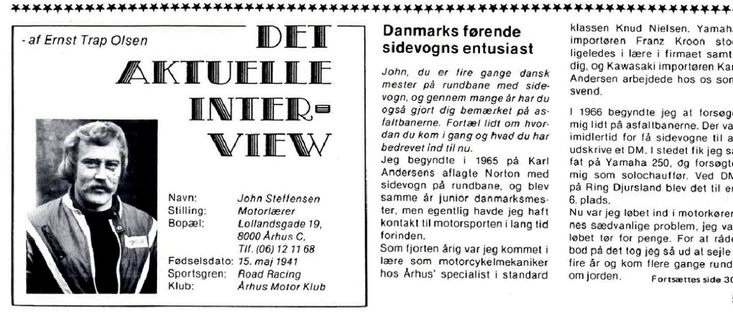 Interview med John i MB dec. 77. Img1.