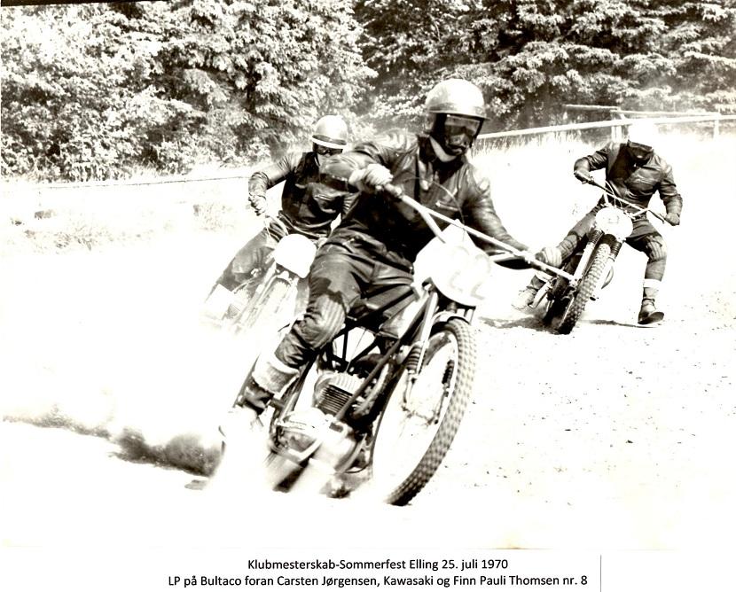 I juli 1970 afholdtes klubmesterskabet i Elling. Carsten vandt som vanligt, men her er det dog lykkedes mig at tage starten foran Carsten og Finn Pauli.