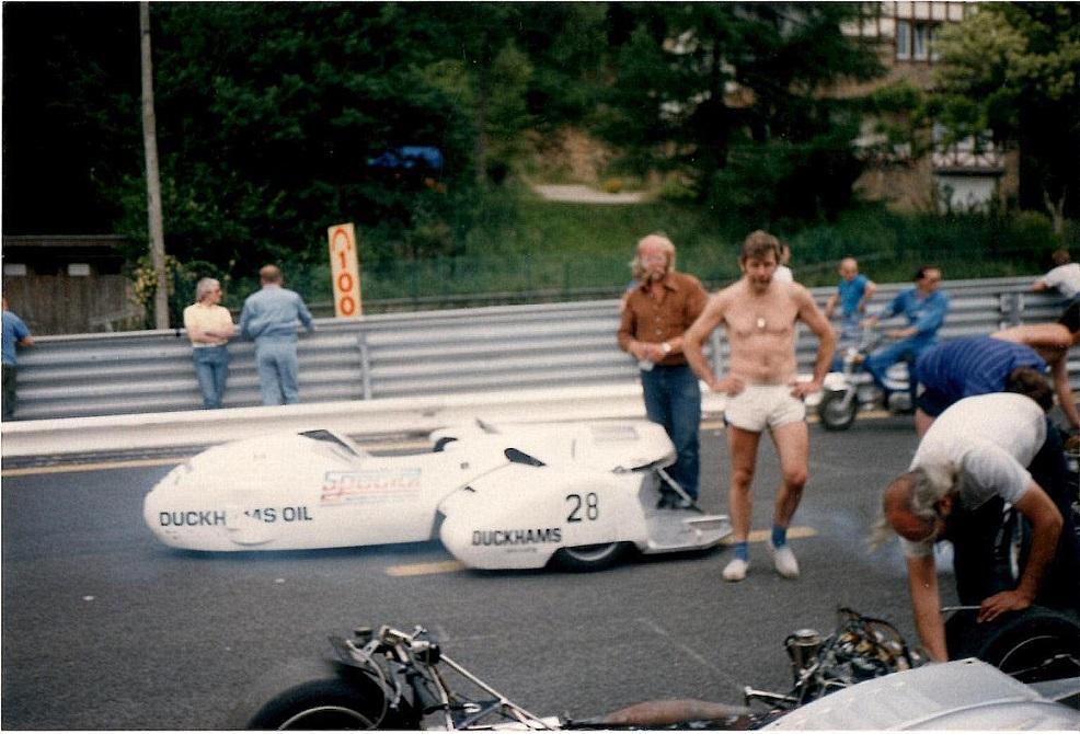 Benny og Ole ved et løb på Spa. Ole erindrer ikke årstallet. Img3.