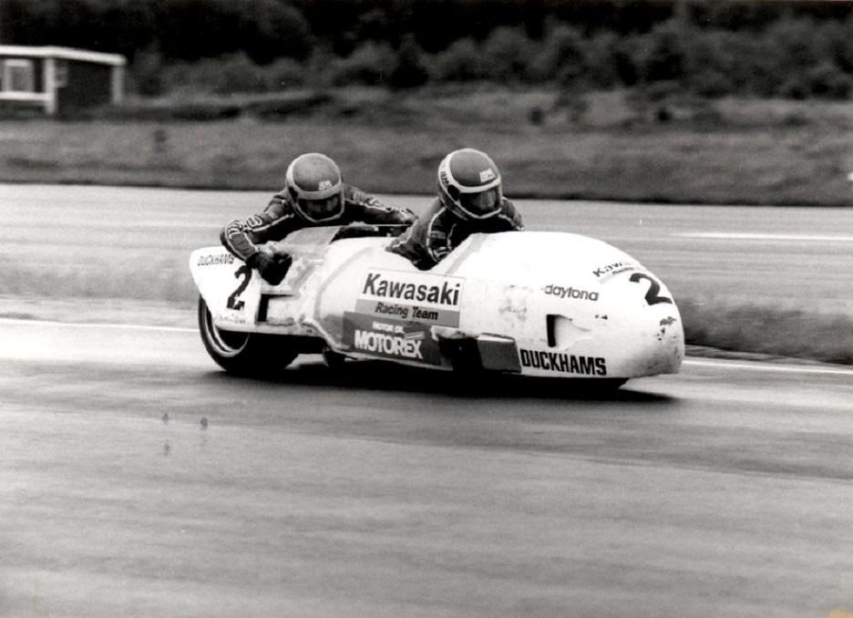Anderstorp 19. juli 1987. Benny og Ole vinder 2. sejr i træk i DM. Der bliver dog intet DM til dem det år, da deltagerantallet var for lille til at DM blev tællende.