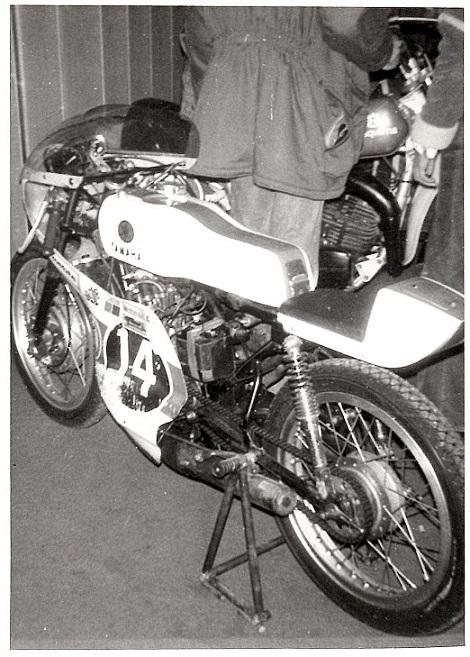 Oles Yamaha på udstilling.