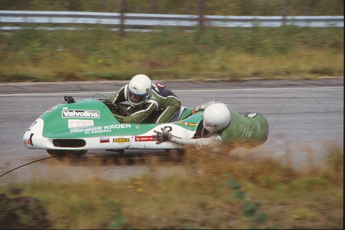 Ole var en del gange sidevognsmand hos Asger Nielsen, som her formodentlig 1979-1980. Img1.