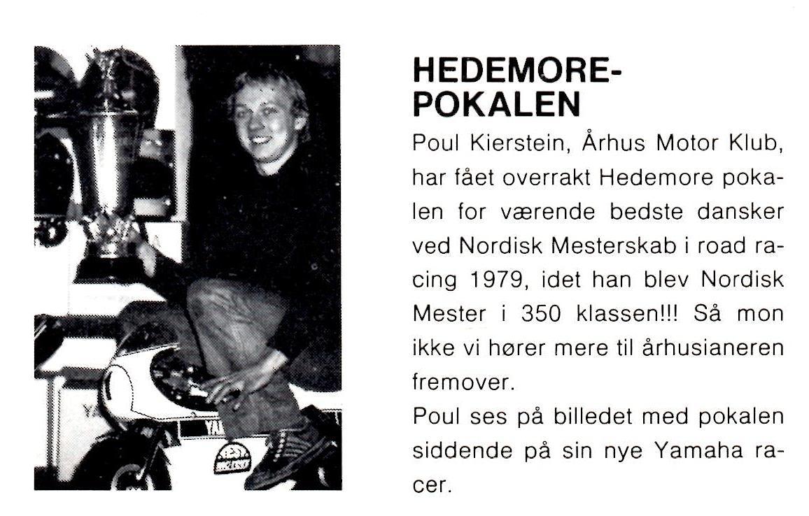 Paul med Hedemora Pokalen. MB marts 1980.