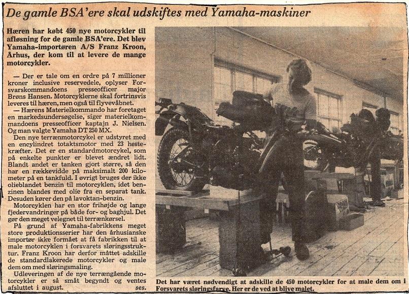 Et avisklip fra 1980. Fa. Franz Kroon havde fået en stor ordre fra militæret på 450 cykler, og Paul ses her med en flok af disse cykler. Under Franz Kroon kan læses lidt mere om denne ordre. Img2